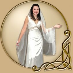 Costume - Satin Dress with Veil